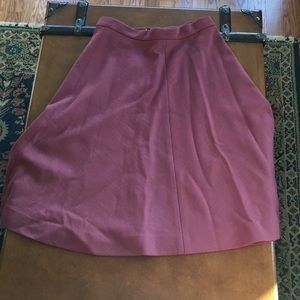Vintage A-line rust colored skirt